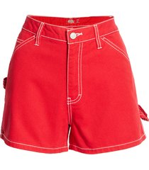 women's dickies carpenter shorts, size 15 - red