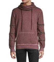 nana judy men's underwood regular-fit sweater - burgundy black - size xs