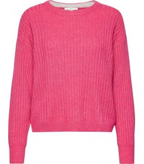 sweaters stickad tröja rosa edc by esprit