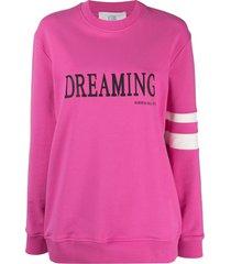 alberta ferretti fucsia stretch-cotton sweatshirt