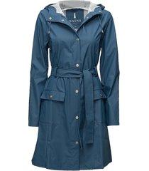 curve jacket regenkleding blauw rains