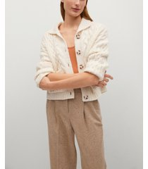 mango women's combined knitted cardigan