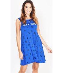 vestido azul verónica lazy time