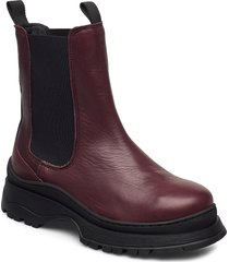 slflucy leather chelsea boot b shoes chelsea boots lila selected femme