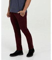 calça plus size mr slim sarja masculina - masculino