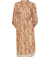 dress w. long sleeves in paisley pr jurk knielengte multi/patroon coster copenhagen