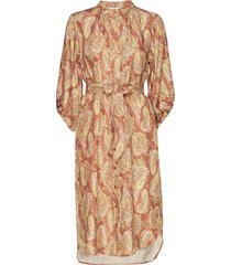dress w. long sleeves in paisley pr jurk knielengte multi/patroon coster copenhagen