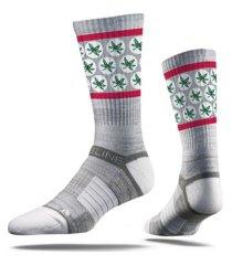 strideline men's ohio state buckeyes comfy full sub crew socks
