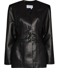 aleksandre akhalkatsishvili collarless blazer dress - black