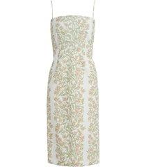 slip dress in beige bougainvillea