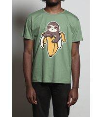 camiseta banana sloth