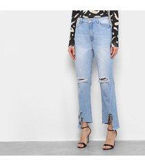 calça jeans my favorite thing (s) reta high feminina