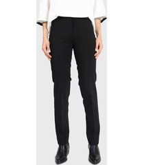pantalón privilege liso negro - calce ajustado