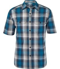 wolverine men's axel short sleeve shirt navy plaid, size xxl