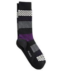 jos. a. bank colorblock & dots mid-calf socks, 1-pair clearance