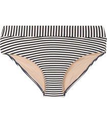 marlies dekkers striped fold-down style bikini bottoms - blue