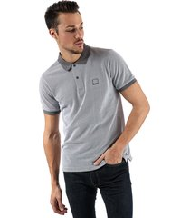 bench mens fabric mix polo shirt size 2xl in grey
