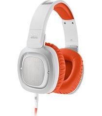 audífonos jbl j88, diadema blanco-naranja over ear