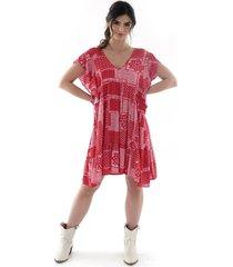 vestido manga sisa - mujer