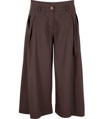 pantaloni culotte larghi in tencel™ lyocell (marrone) - bpc bonprix collection
