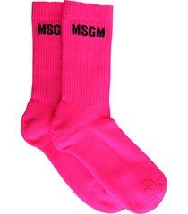 msgm socks with micro logo