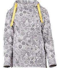 bluza z kapture orientalne kwiaty