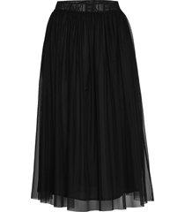 double layer mesh skirt knälång kjol svart calvin klein jeans