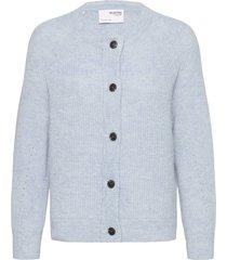 slflulu ls knit short cardigan gebreide trui cardigan blauw selected femme