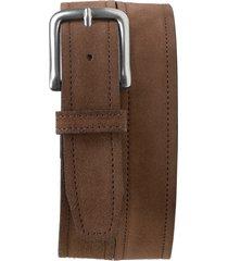 men's trask sutton belt, size 44 - dark brown suede
