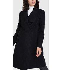 abrigo io doble faz negro - calce regular