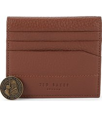 ted baker men's leather bi-fold card case - black