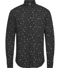 hardy slim shirt skjorta casual svart oscar jacobson