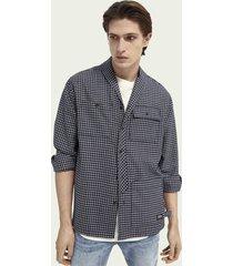 scotch & soda wool-blend shawl collar over shirt