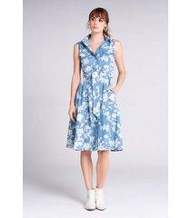 vestido corto tencel estampado floral