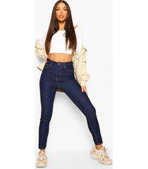 tall skinny jeans met hoge taille, dark blue