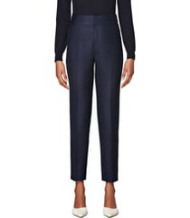 women's suistudio lane classic wool trousers, size 00 us / 30 eu - blue
