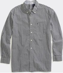 tommy hilfiger men's adaptive seated fit check shirt sky captain - m