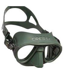 máscara de mergulho cressi calibro verde .