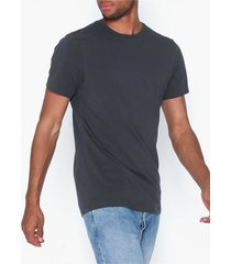 bread & boxers m's crew-neck t-shirts & linnen charcoal gray