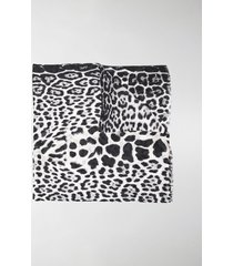 saint laurent leopard-print silk scarf