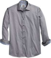 joseph abboud tan diamond weave sport shirt