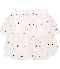 philosophy di lorenzo serafini pink skirt for girl with poka-dots