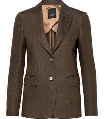6669 ww - ginette pointy 1/2 blazers business blazers grön sand