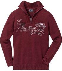 maglione con cerniera regular fit (rosso) - bpc selection