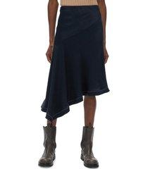 women's helmut lang scarf slip skirt, size 00 - blue