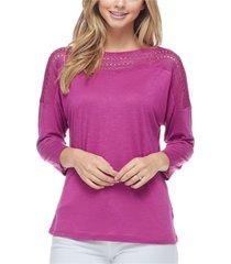 fever women's 3/4 sleeve top