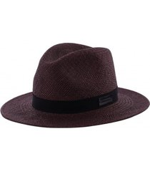 kapelusz dark brown fedora panama