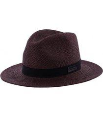 kapelusz dark brown fedora panama