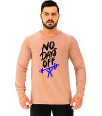 camiseta manga longa moletinho alto conceito sem dias de descanso rosa  - rosa - masculino - algodã£o - dafiti