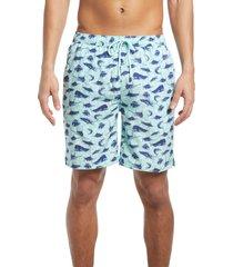 men's peter millar deep sea fishing swim trunks, size large - blue